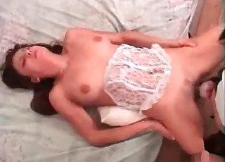Horny beast is totally dominating the pussy of a woman