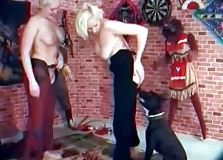 Blondes with big tits fucked by labrador