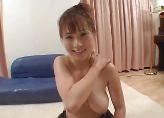 Cute Asian angel and her lusty doggy
