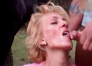 Mischievous bestial threesome with a blonde