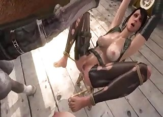 Horse fucks Quiet from MGS, 3D bestiality